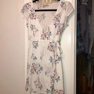 Hollister Foral Wrap Dress